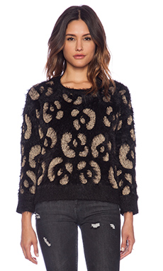MINKPINK Nocturnal Jumper in Black & Gold