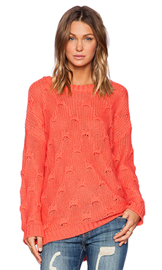 MINKPINK Shake the World Sweater in Rose Pink