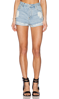 MINKPINK Go West Short in Denim Blue