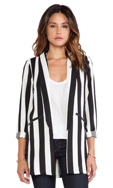MINKPINK All Down To You Blazer in Black/White