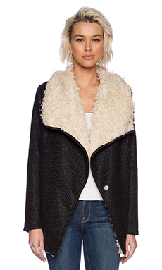 MINKPINK Snowed Out Jacket in Black & White