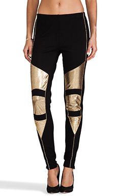 MINKPINK Struck Oil Legging in Black/Gold