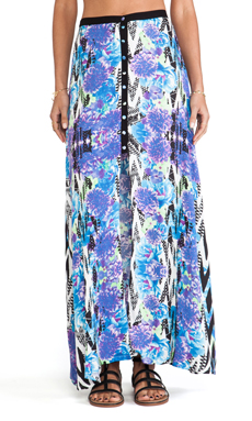 MINKPINK Garden Breeze Maxi Skirt in Multi