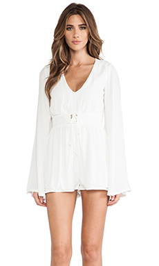 MINKPINK Follow Me To Heaven Playsuit in White
