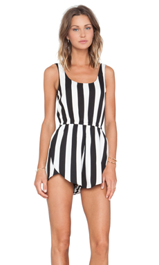 MINKPINK All Down To You Playsuit in Black/White