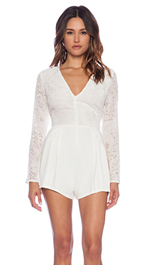 MINKPINK Xanadu Romper in Off White