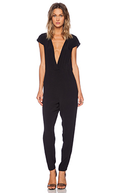 MINKPINK Cross Front Jumpsuit in Black