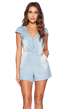 MINKPINK Somewhere In Time Playsuit in Light Blue