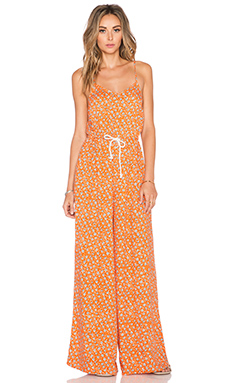 MINKPINK Ditty Floral Jumpsuit in Rust