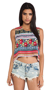 MINKPINK Folk Frenzy Tank in Multi