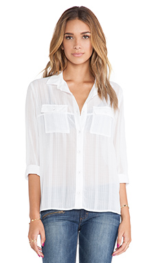 MINKPINK Blush Blouse in White