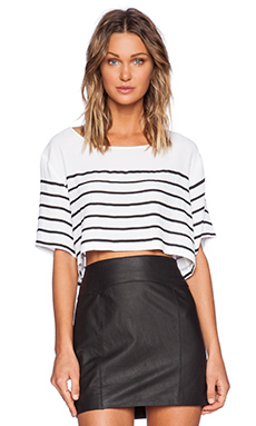 MINKPINK Butterfly Effect Crop Top in White & Black