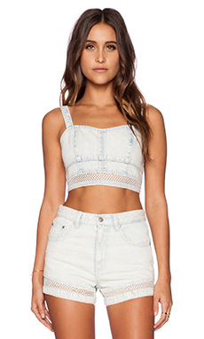 MINKPINK Shadows In The Sun Bustier in Ice Blue