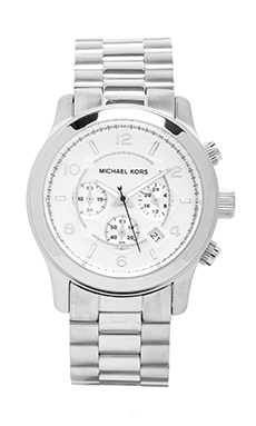 Michael Kors Runway Watch in Silver