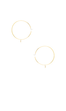 Michael Kors Hearts Earrings in Gold