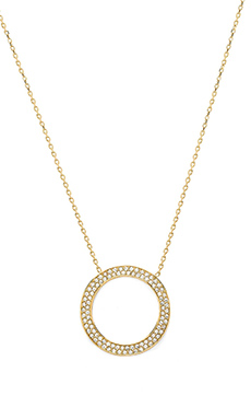 Michael Kors Brilliance Necklace in Gold & Clear