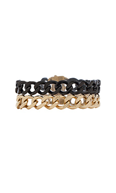 Michael Kors Chain Wrap Bracelet in Two Tone