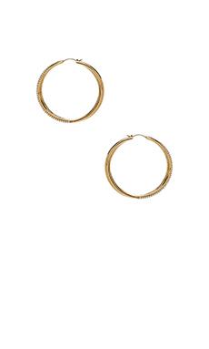 Michael Kors Brilliance Hoop Earrings in Gold