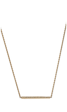 Michael Kors Pave Bar Necklace in Gold