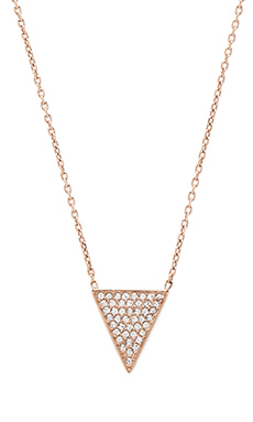 Michael Kors Pave Pendent Necklace in Rose Gold