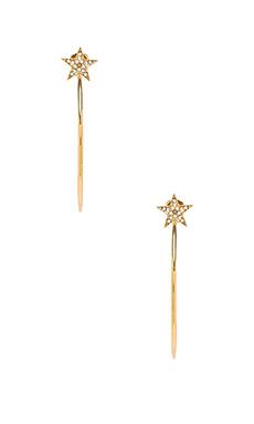 Michael Kors Star Hoop Earrings & Clear in Gold