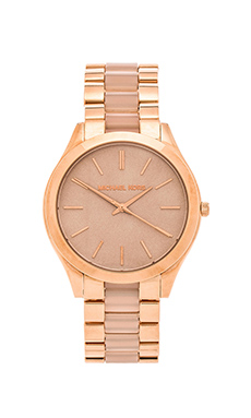 Michael Kors Slim Runway in Rosegold & Blush