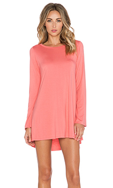 Michael Lauren Harvest Long Sleeve Dress in Tea Rose