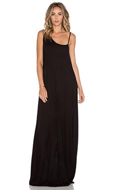 Michael Lauren Dutch One Shoulder Strap Dress in Black