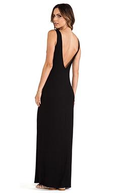 Michael Lauren Langley Deep V Back Maxi Dress in Black
