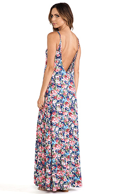 Michael Lauren Gage Deep Back Maxi Dress in Country Pink