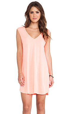 Michael Lauren Lazer Deep V Tank Dress in Dreamsical