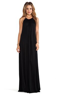 Michael Lauren Pedro Maxi Halter Dress in Black