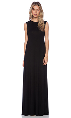 Michael Lauren Jed Maxi Dress in Black