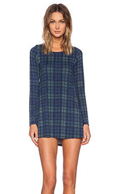 Michael Lauren Harvest Dress in Blue Plaid