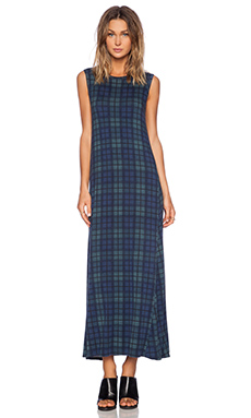 Michael Lauren Sebastian Maxi Dress in Blue Plaid