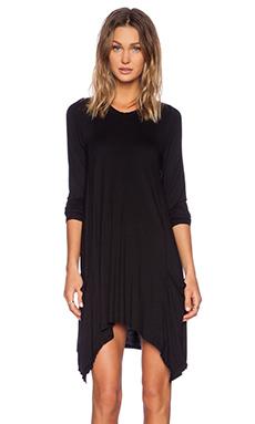 Michael Lauren Rowan Draped Dress in Black