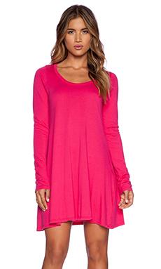 Michael Lauren Chip Long Sleeve Dress in Jazzberry