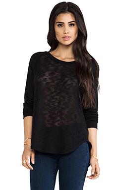 Michael Lauren Rio Raglan Sweater in Black