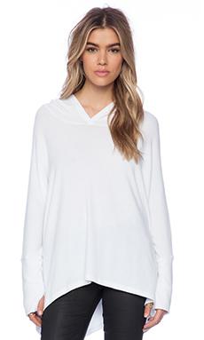 Michael Lauren Dash Hoodie Sweater in White