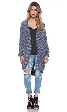 Michael Lauren Easton Cardigan in Denim Stripe