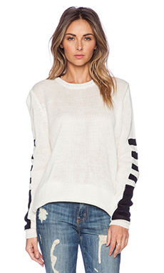 Michael Lauren Farley Sweater in Cream & Black