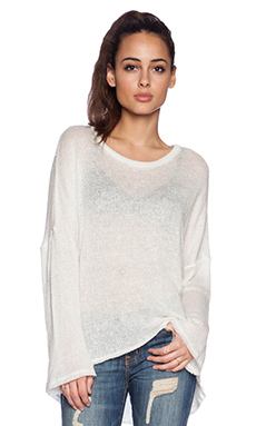 Michael Lauren Gideon Pullover Sweater in Natural