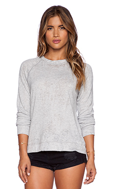 Michael Lauren Donnie Vintage Sweatshirt in Heather Grey