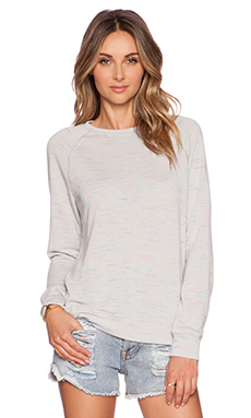 Michael Lauren Donnie Vintage Sweatshirt in Ice Grey