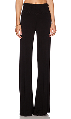 Michael Lauren Beck Wide Leg Pant in Black