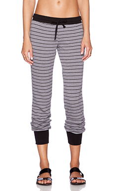 Michael Lauren Chet Track Pant in Grey & Black