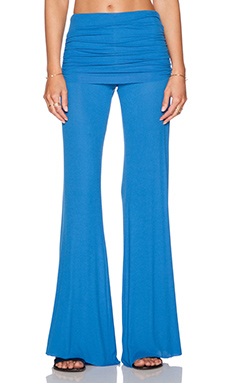 Michael Lauren Costa Fold Over Bell Pant in Marine Blue