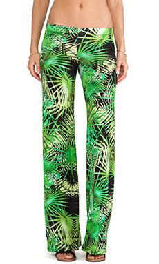 Michael Lauren Derby Wide Leg Pant in Jungle Green
