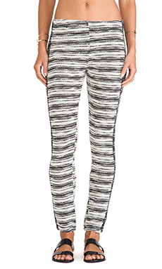 Michael Lauren Freedom Long Pant in White & Black