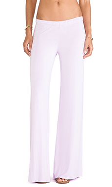 Michael Lauren Derby Wide Leg Pant in Neo Violet